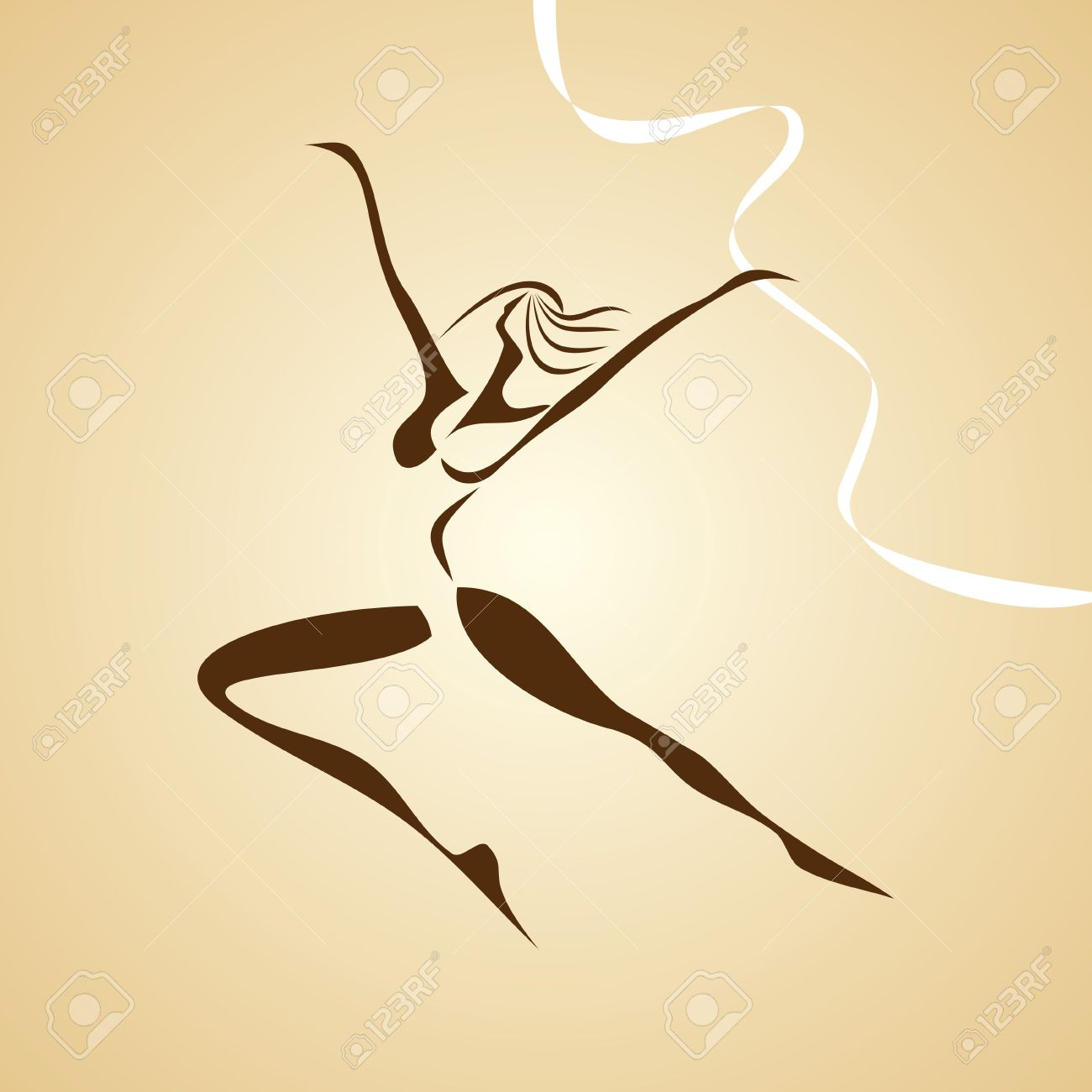 stylized illustration of dancing girl Stock Vector - 15660257