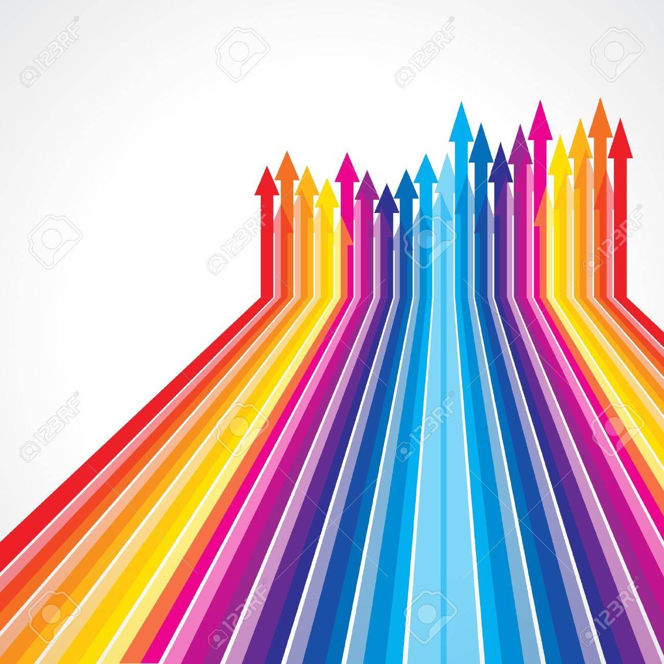 Colored arrows vector - 15639080