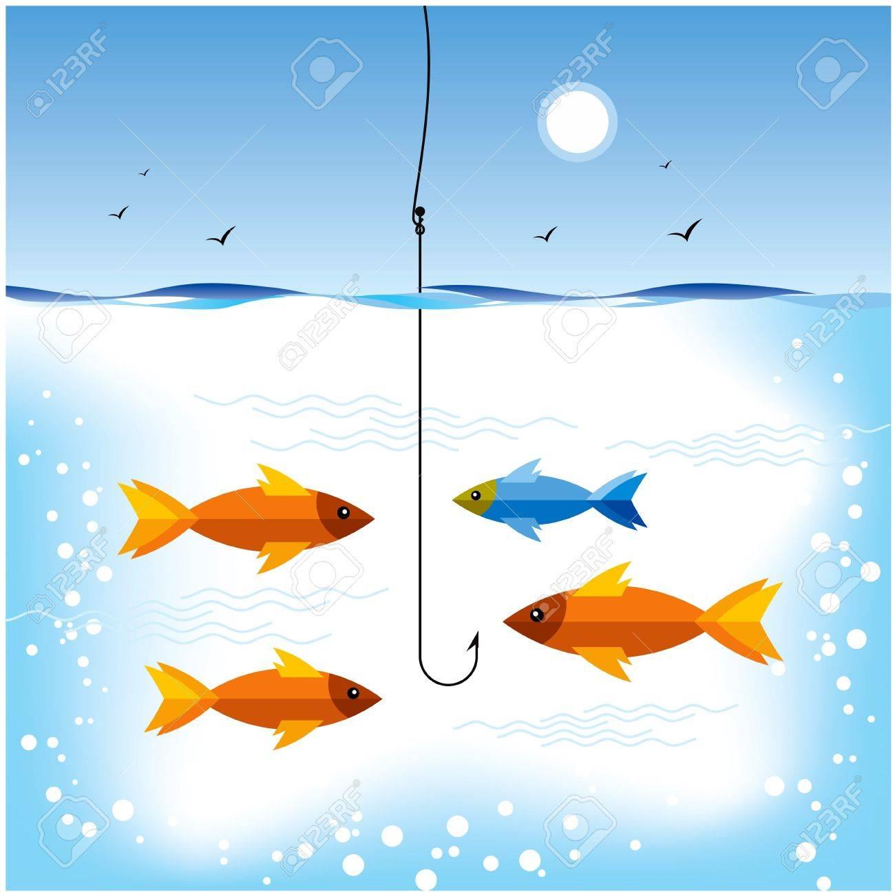 fishing the gold fish hunting Stock Vector - 15947357