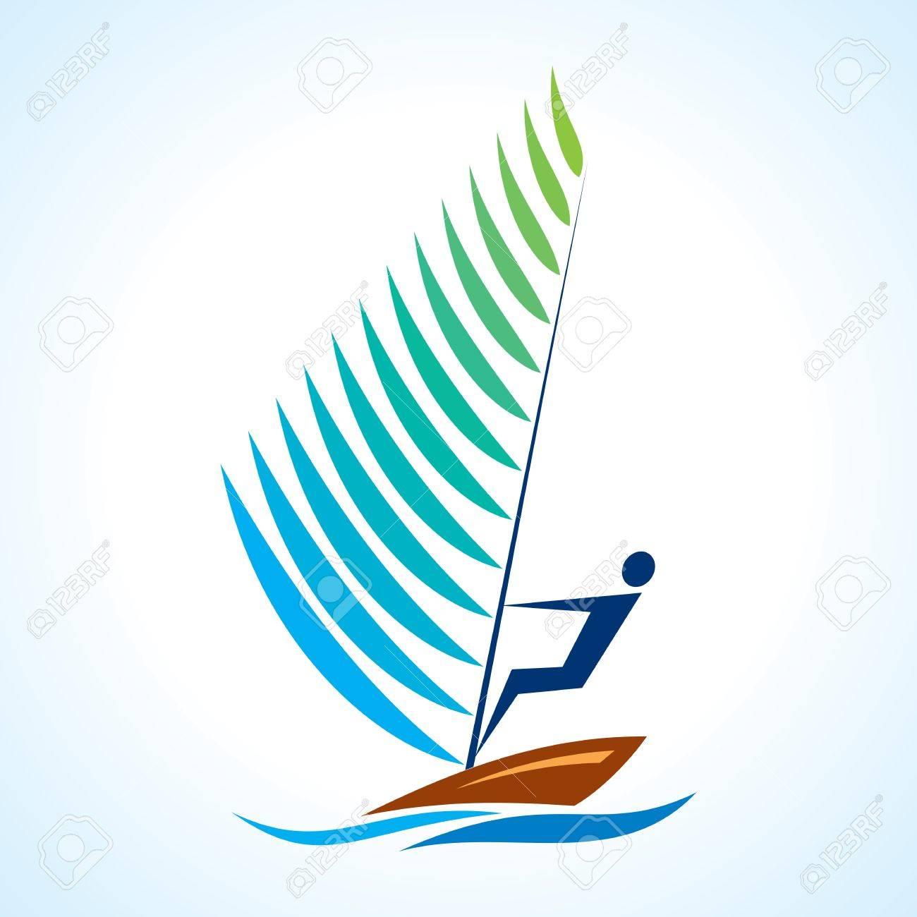 sailing symbol, sport series Stock Vector - 17762307