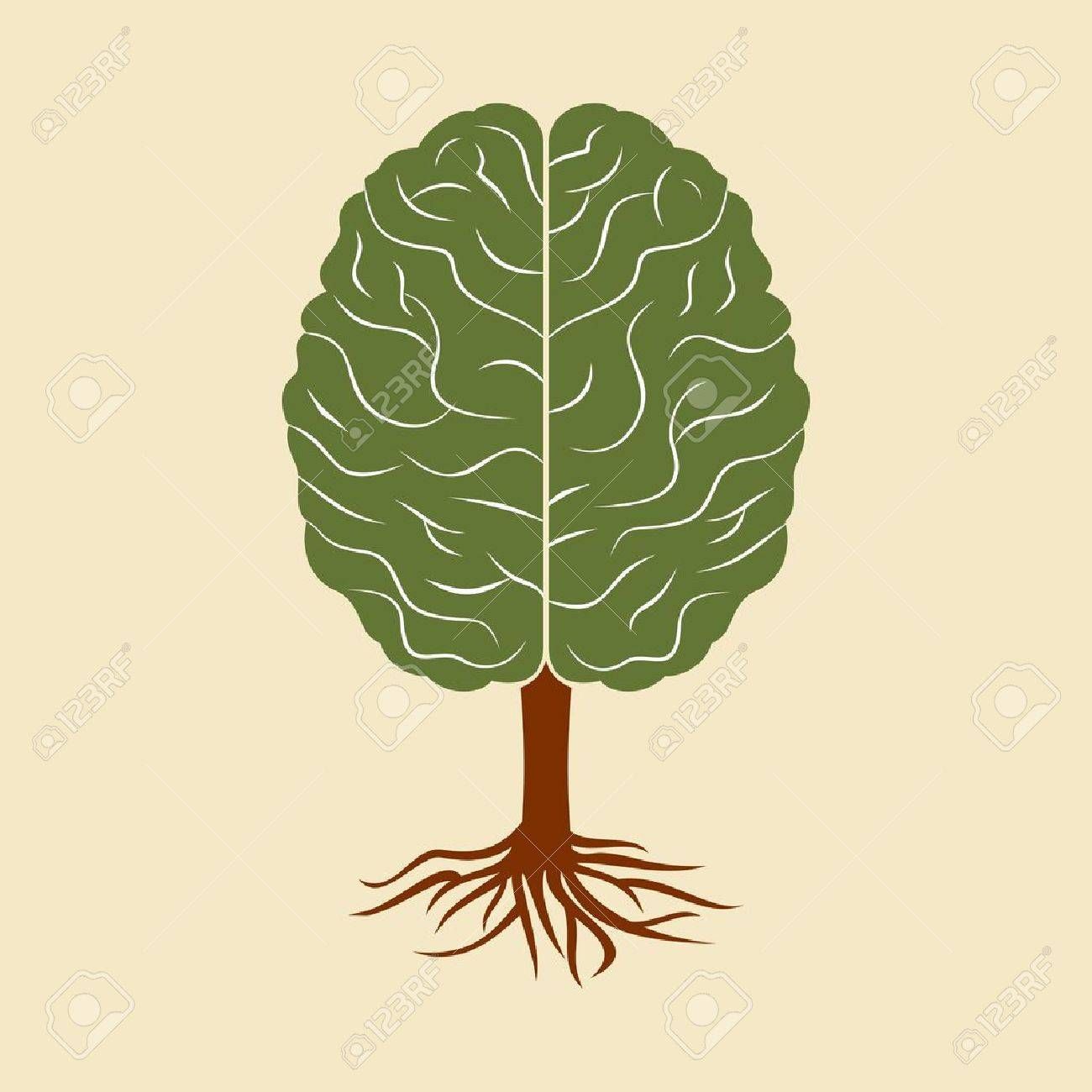 a brain growing in the shape of tree Stock Vector - 17730628