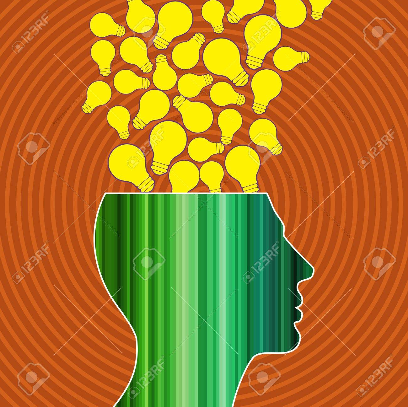 idea outburst with seamless background Stock Vector - 17730252