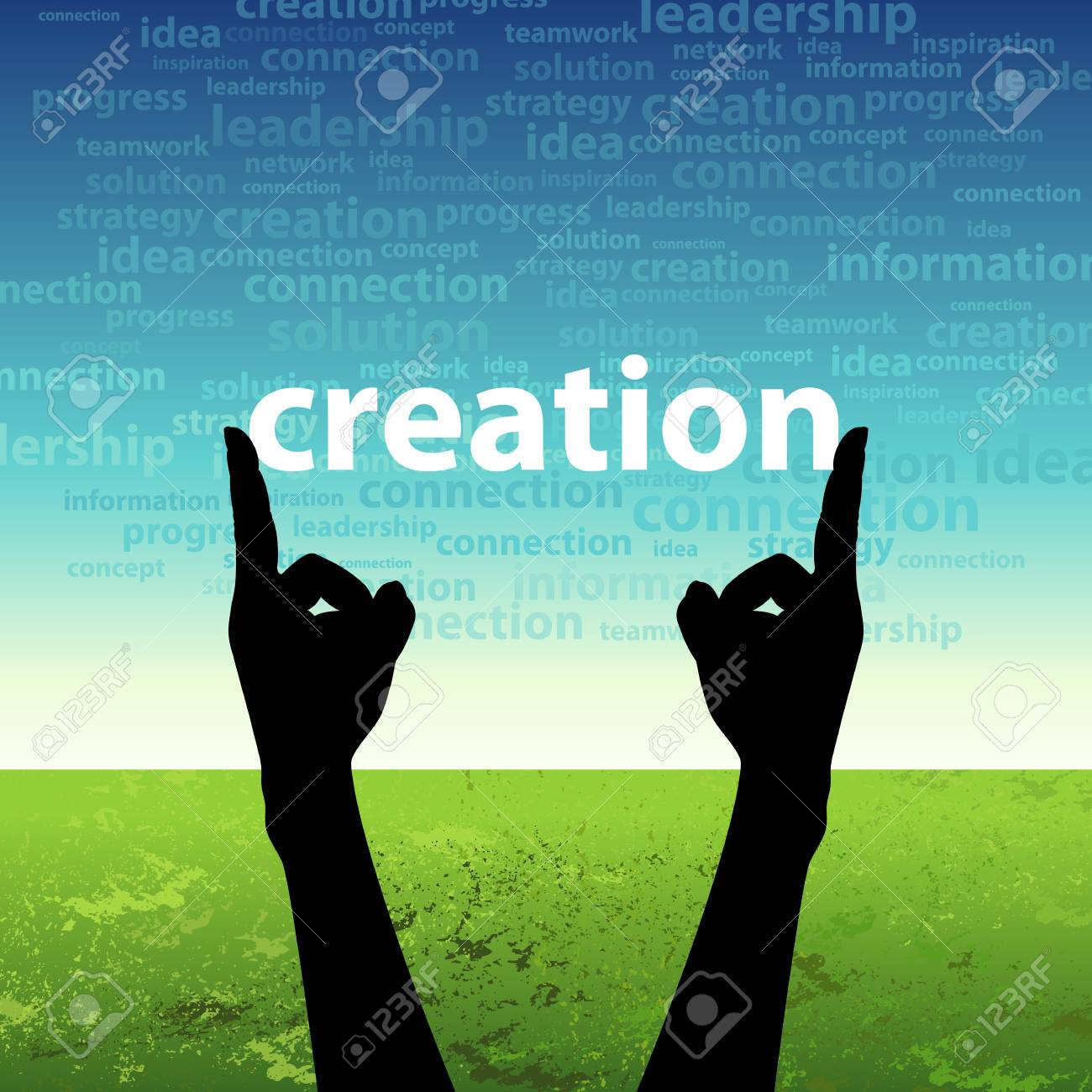 creation in hand Stock Photo - 17637678