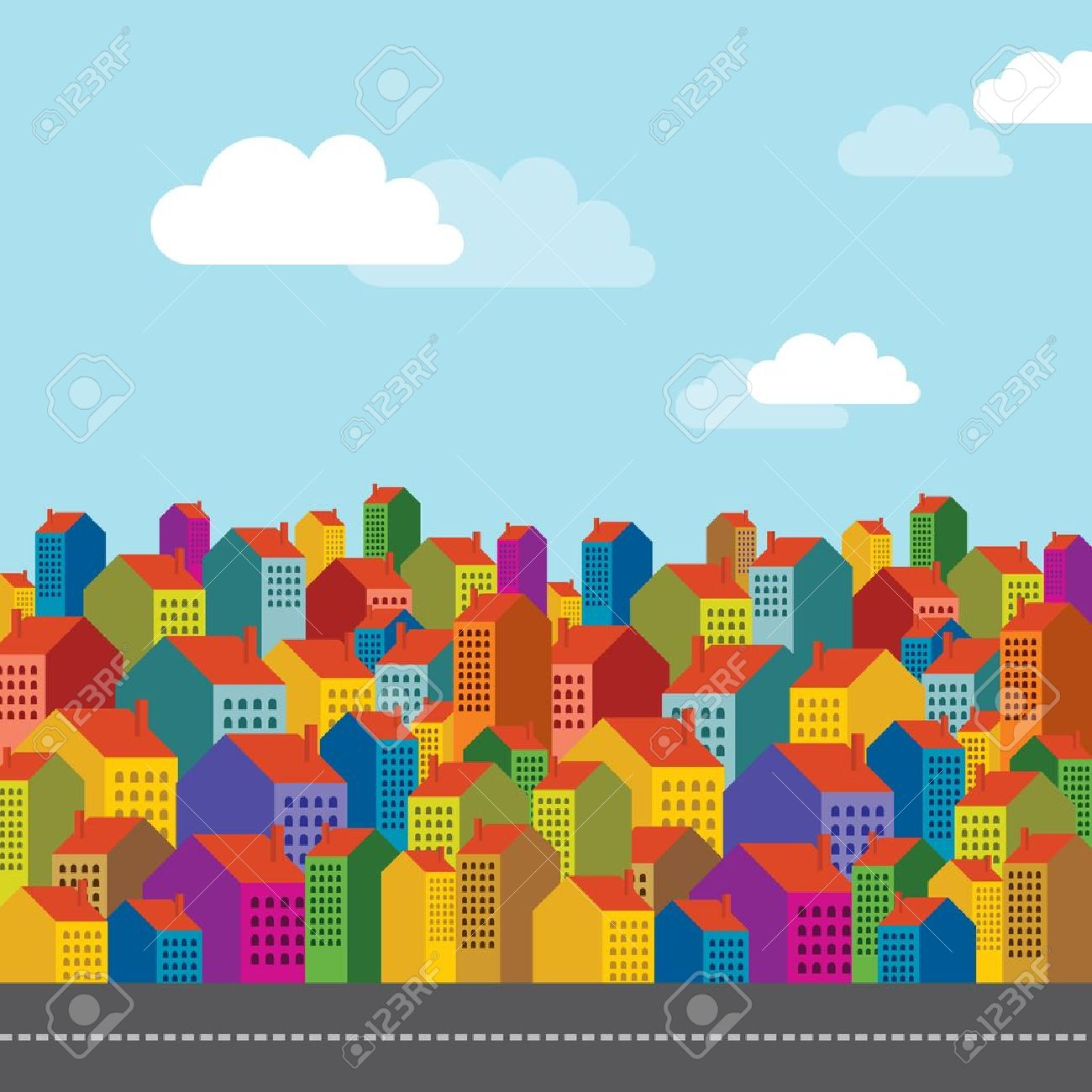 Vector of colorful city skyline Stock Vector - 17636872