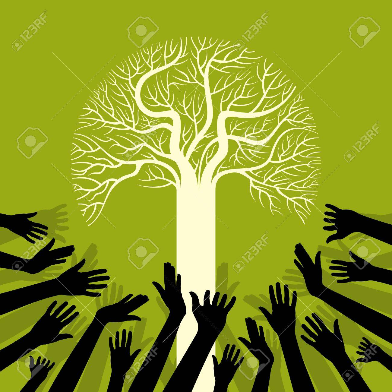 save environment save tree Stock Vector - 17635221