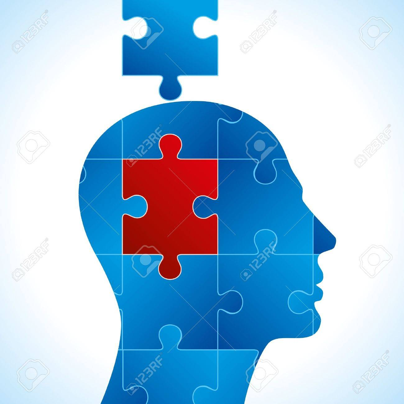Puzzle heads vector Stock Vector - 17635105
