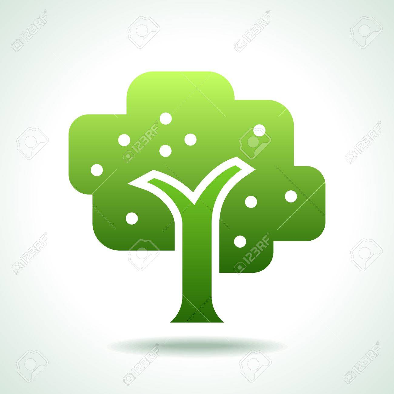 Green tree vector Stock Vector - 17636949