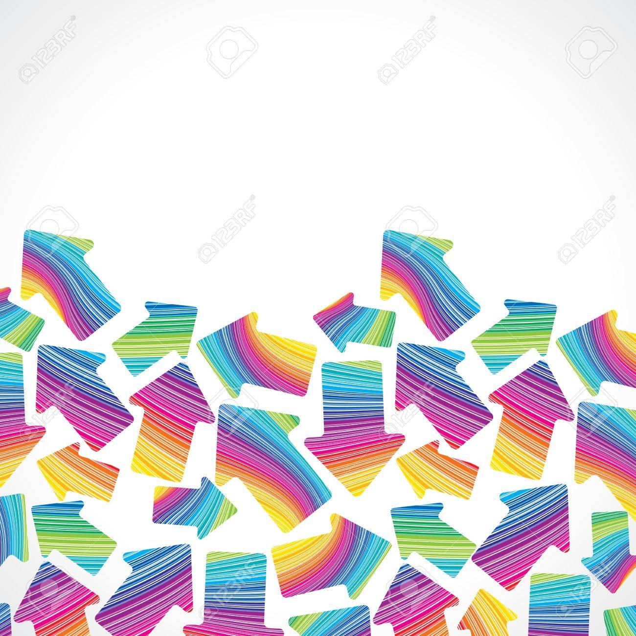 retro  seamless  stripe pattern with arrows on white Stock Vector - 17084653