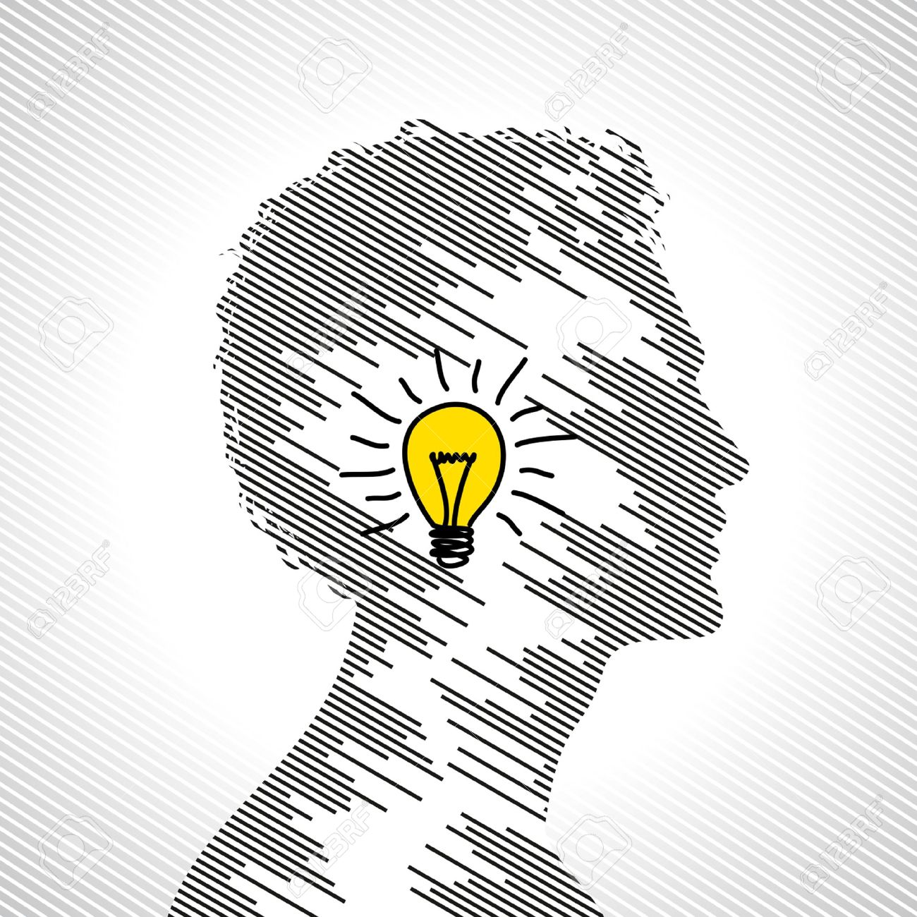 idea concept with human head royalty free cliparts vectors and