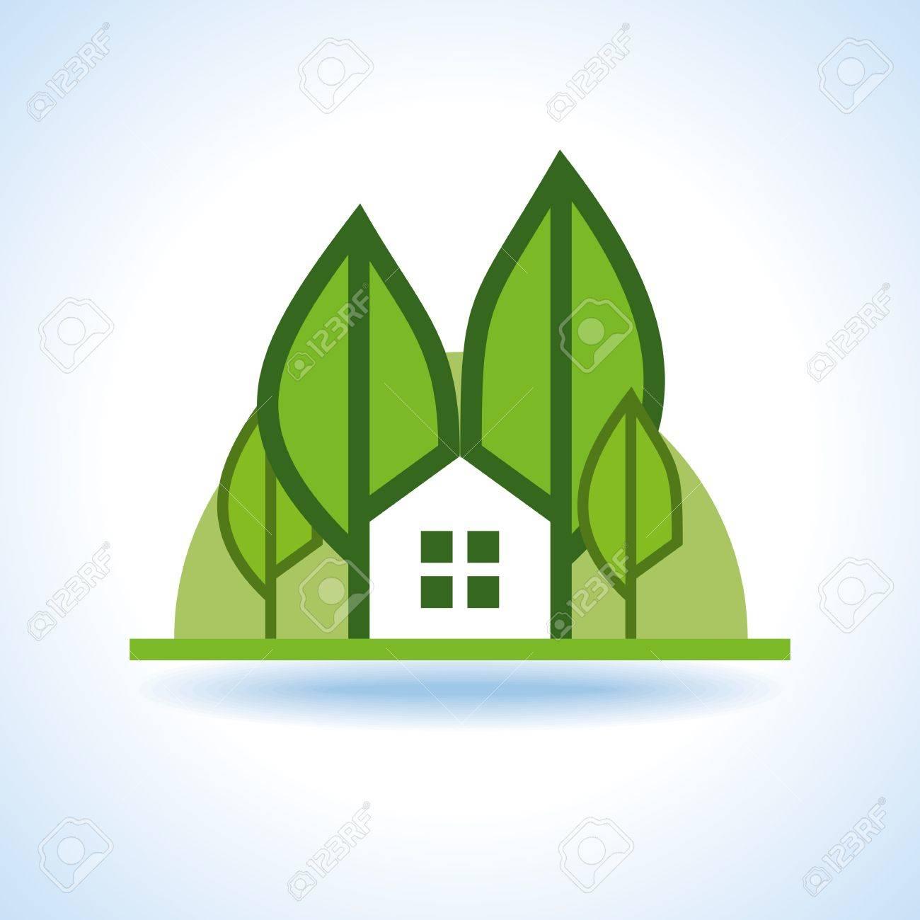 Bio green house icon Stock Vector - 18157276