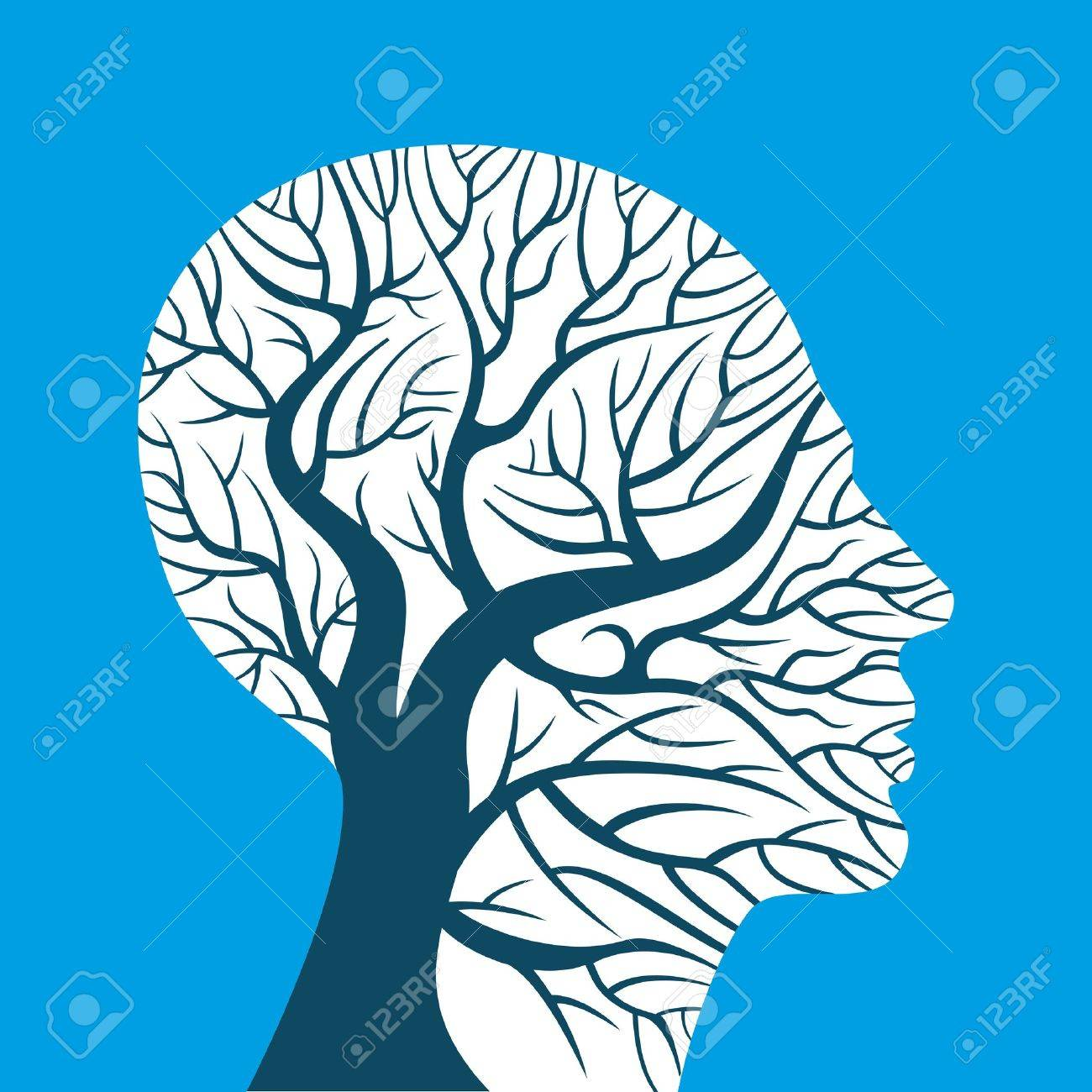 human brain, green thoughts Stock Vector - 18178237