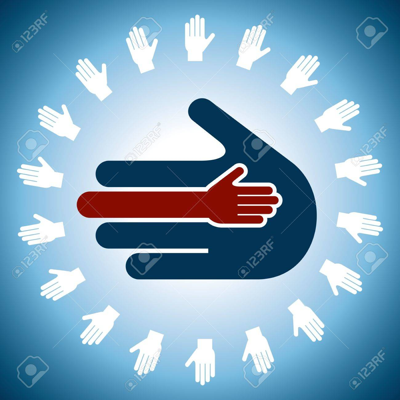 human hand unity concept Stock Vector - 18210624