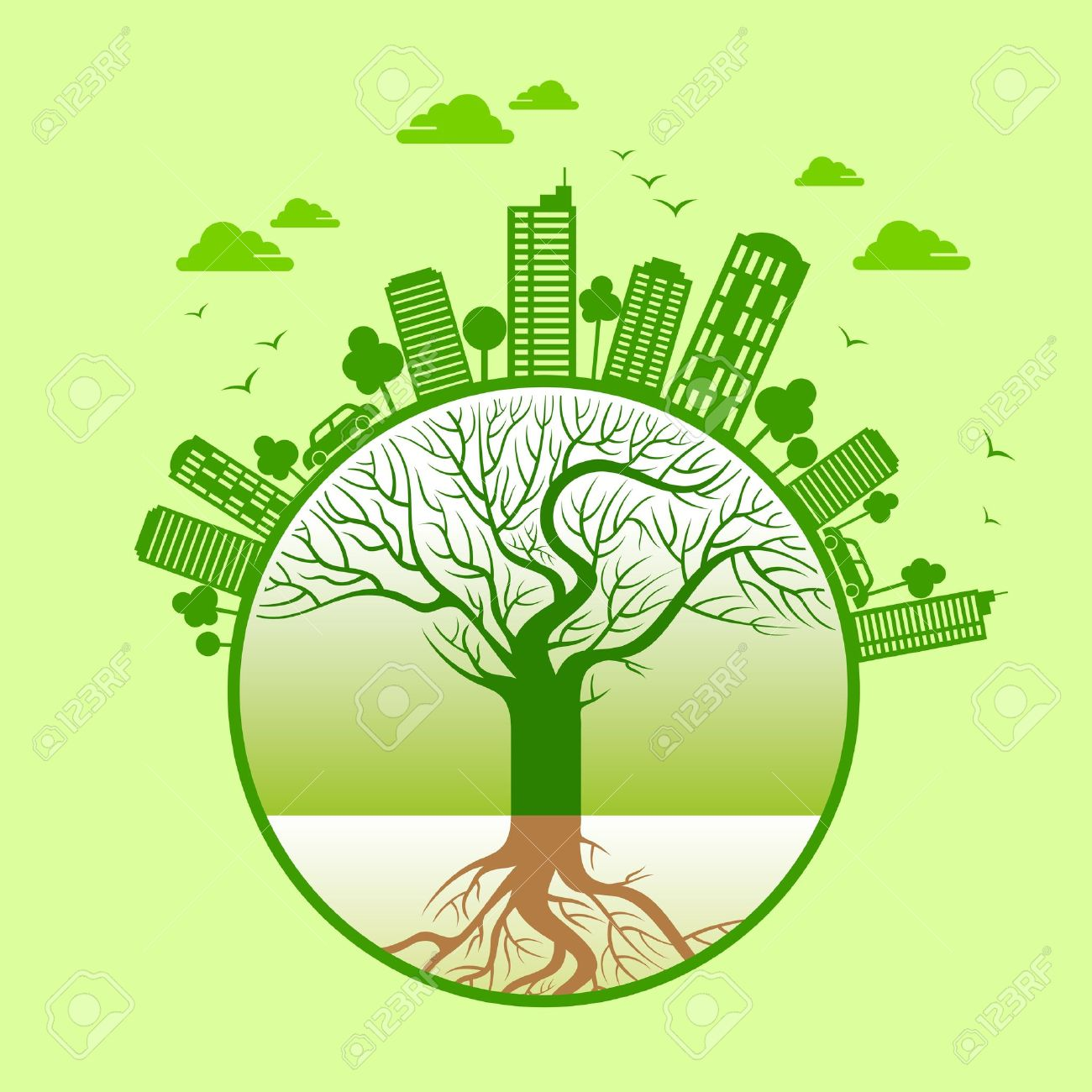 Ecology Concept Save Earth Royalty Free Cliparts Vectors And