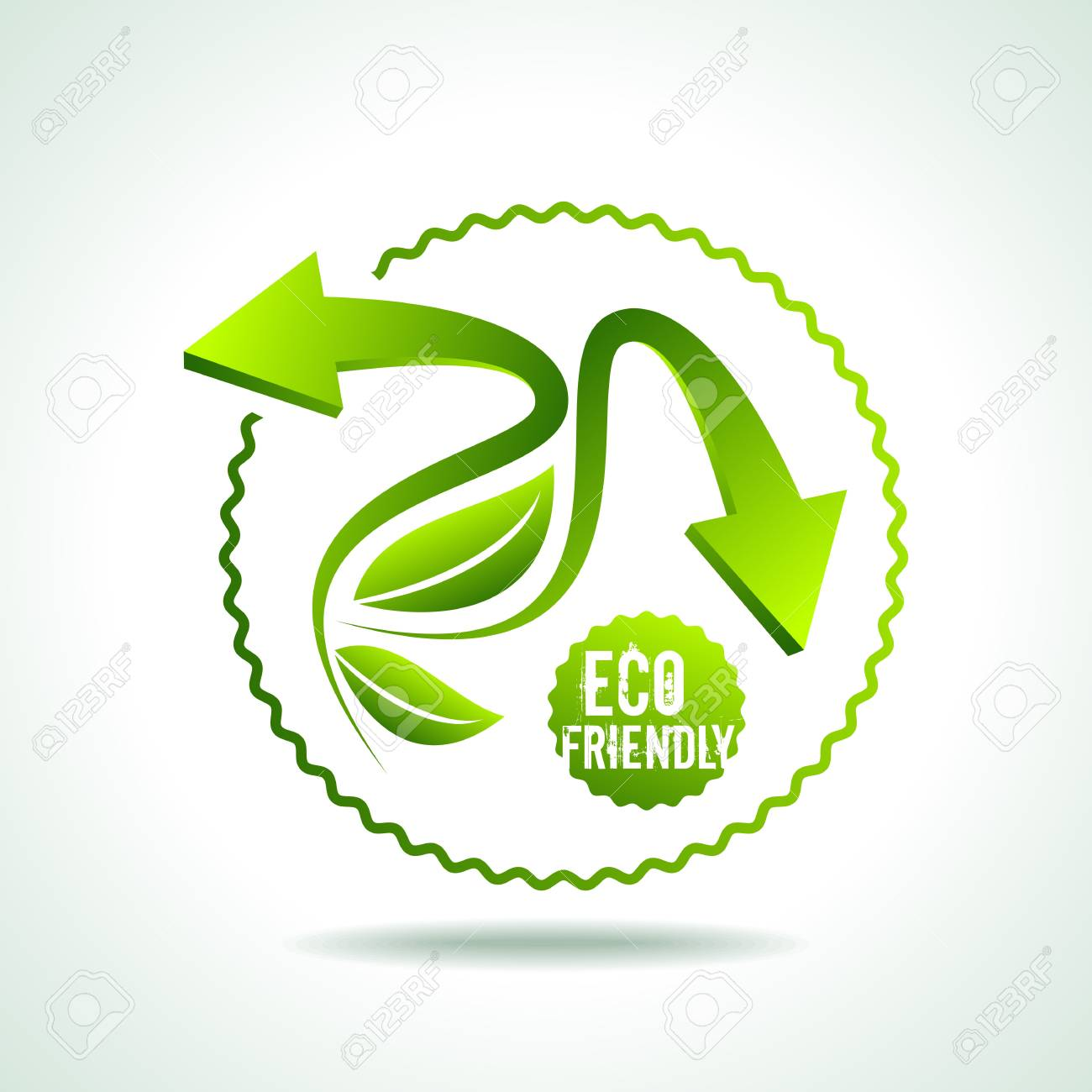 illustration of recycle arrow on isolated background Stock Vector - 18210818