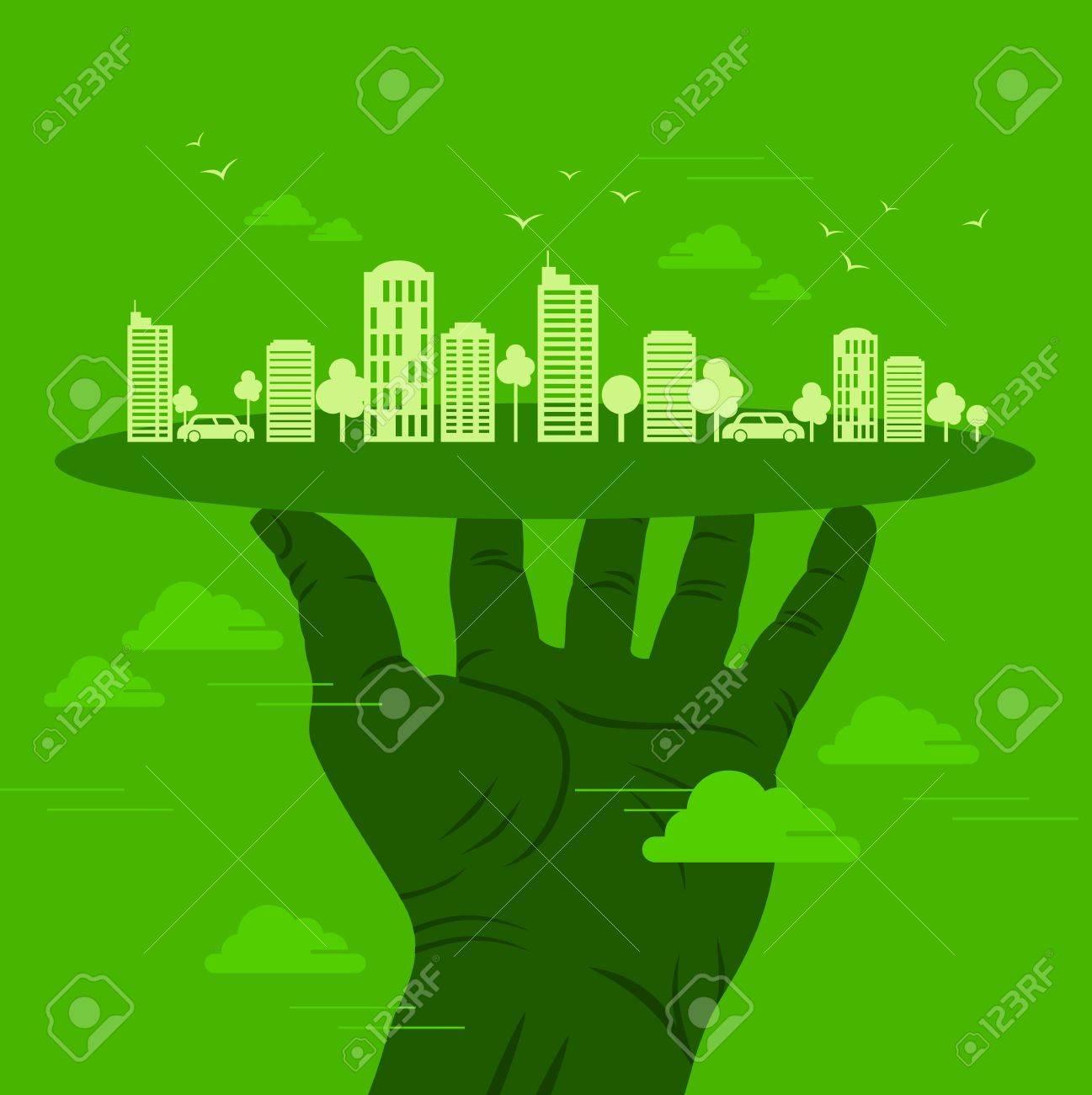 green earth- ecology concept Stock Vector - 18210781