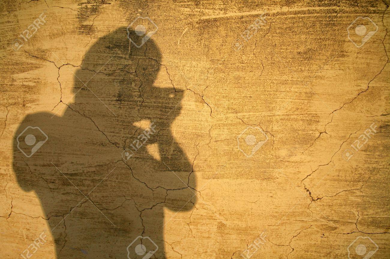 photographar shadow on old texture wall Stock Photo - 19463179