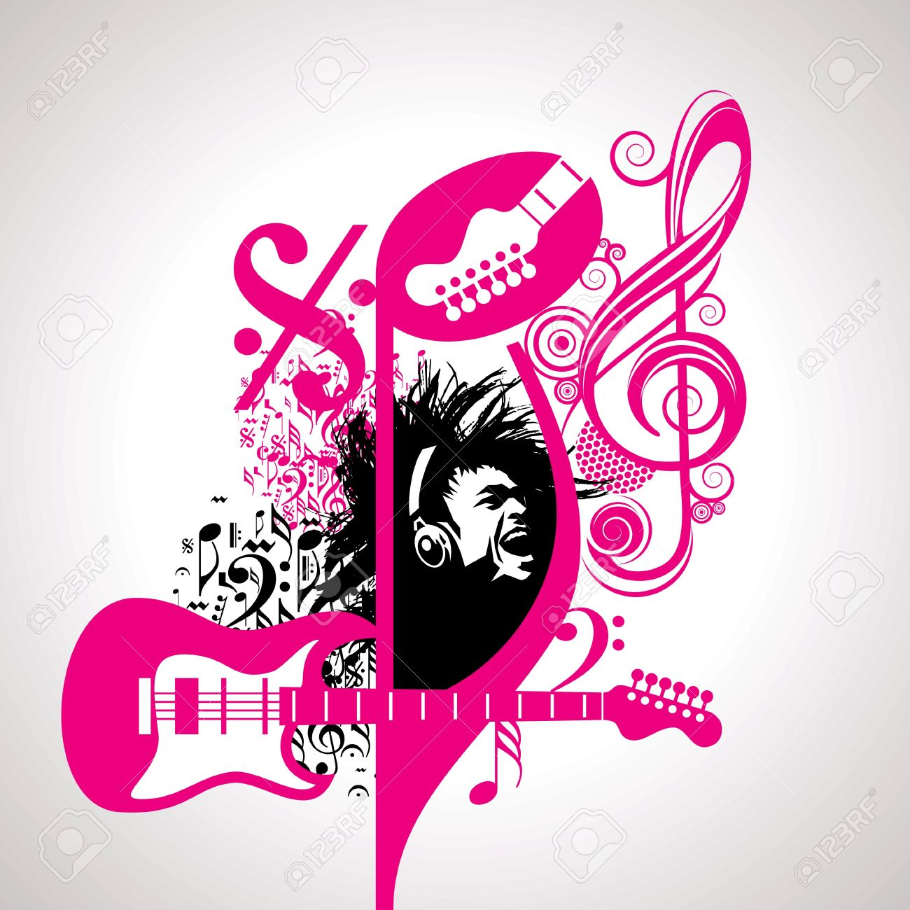 Abstract Musical Background For Music Event Design Royalty Free