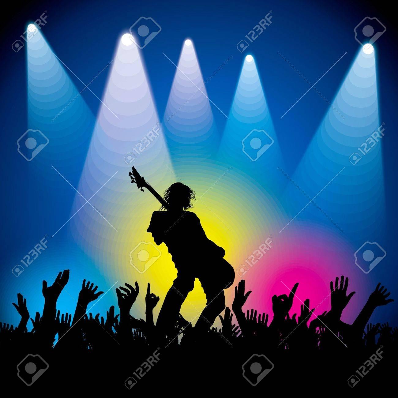 Pics photos rock concert background - Rock Music Musical Background Vector