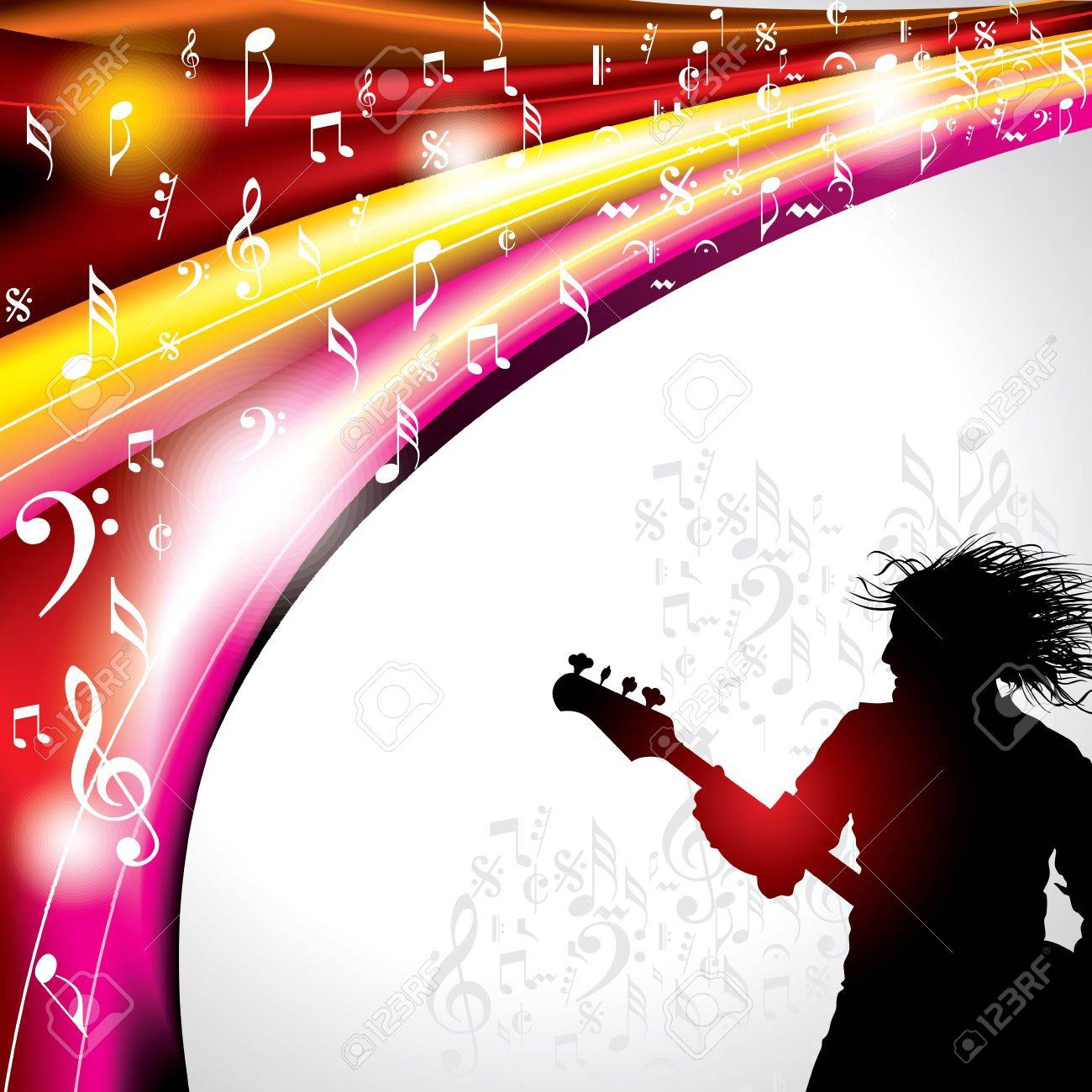 Abstract musical background with music event design Stock Vector - 19466802