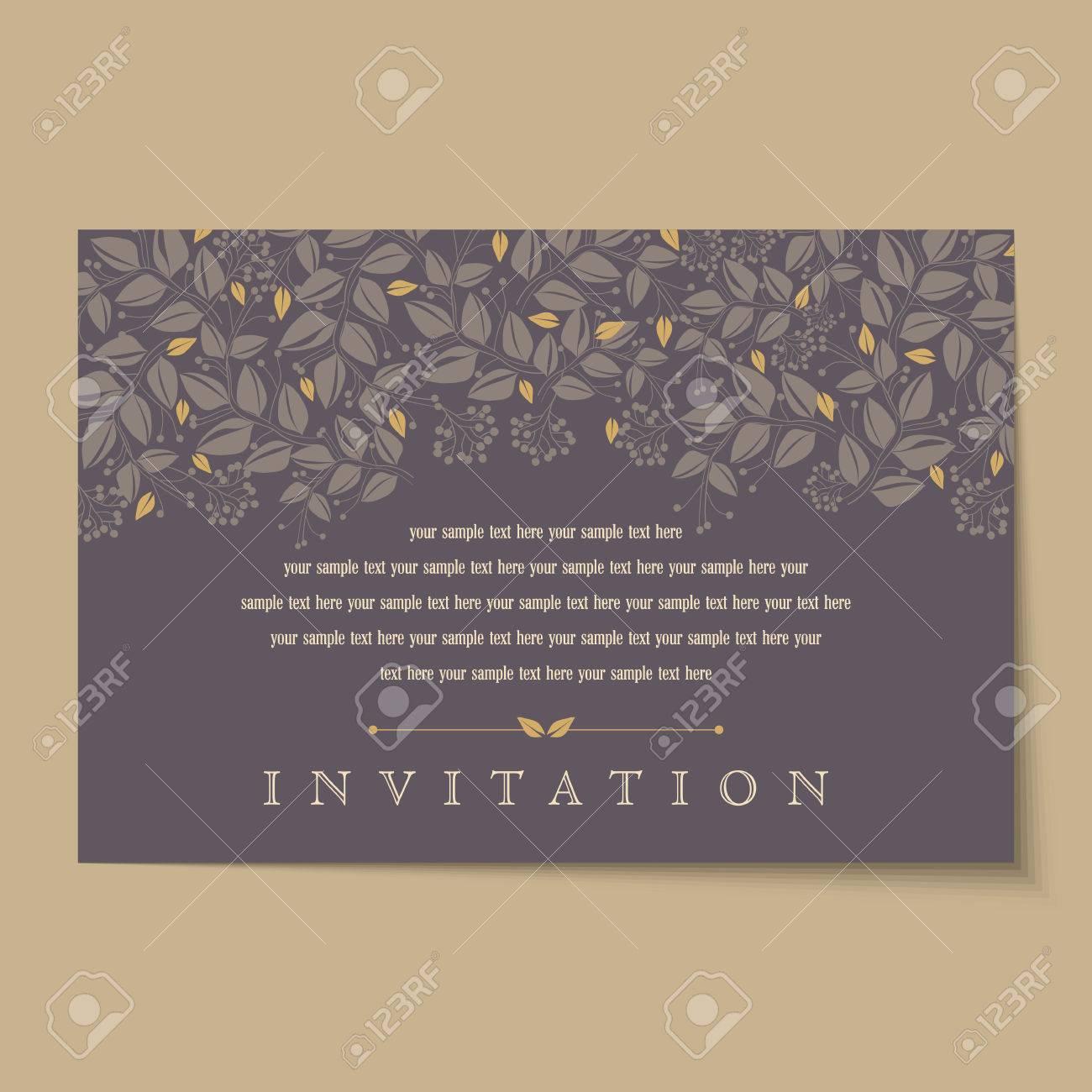 Beautiful vintage invitation cards layouts - 37152997