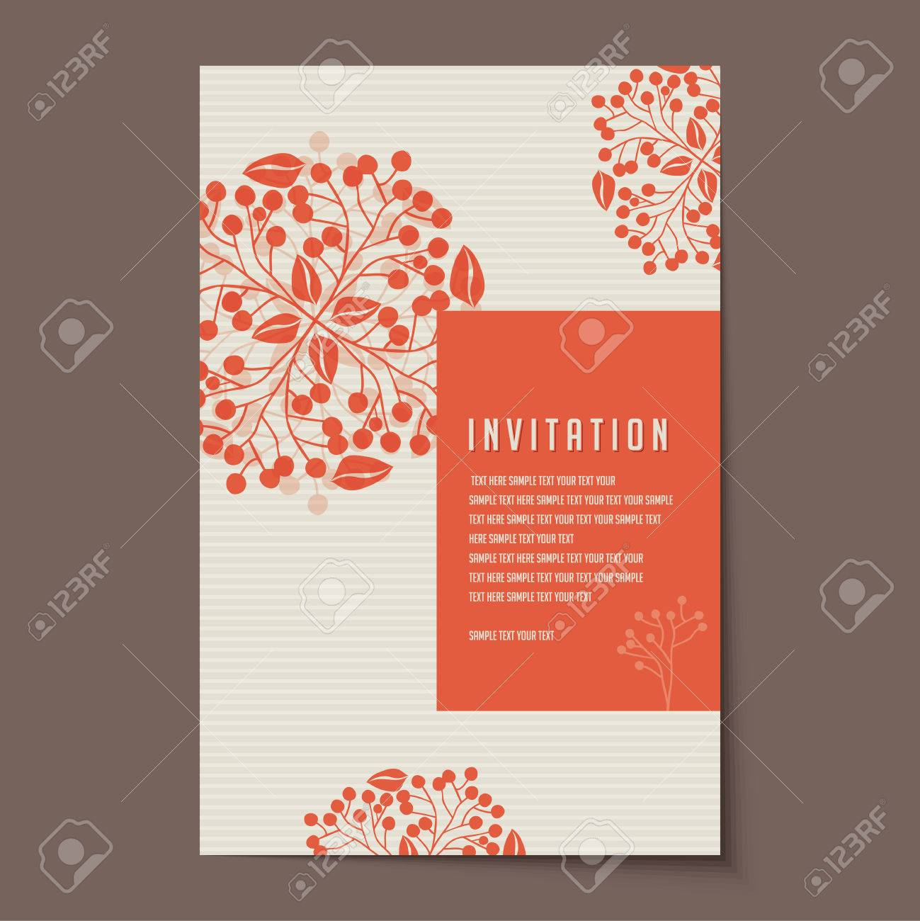 Invitation Card Design For Wedding Or Announcements Royalty Free ...