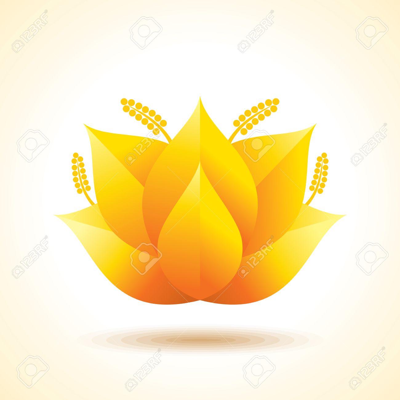 Health Spa Creative Idea Lotus Flower Abstract Design Template