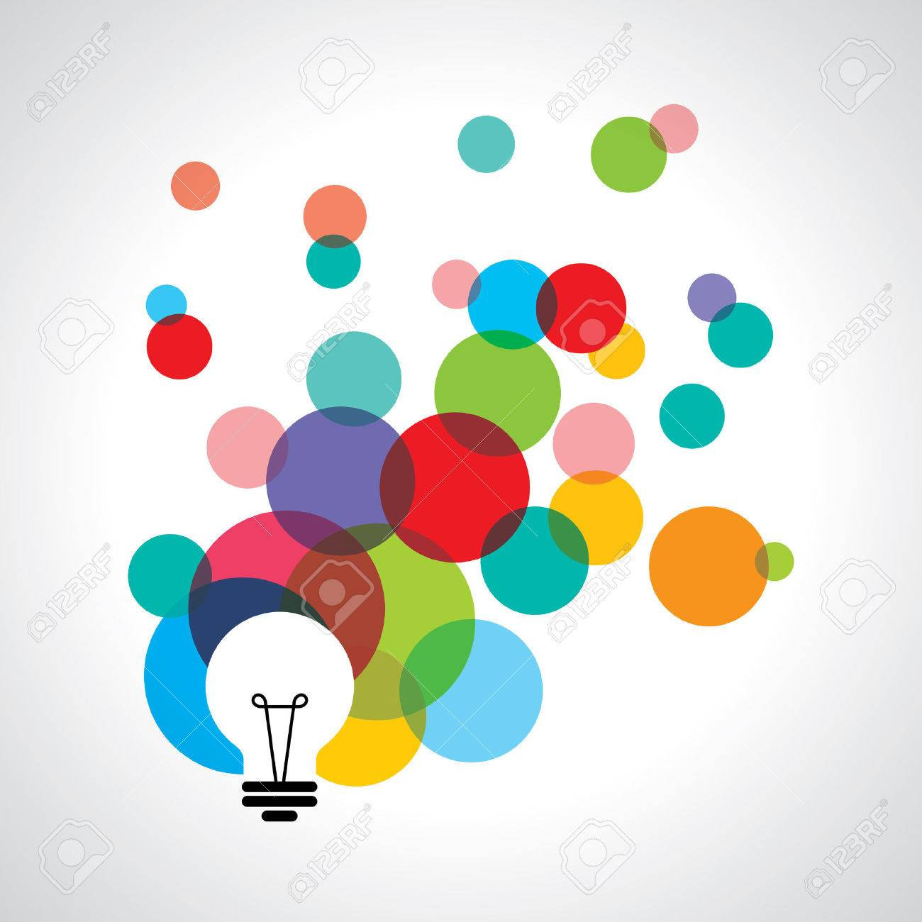 light bulb icons with concept of idea. Standard-Bild - 37109768