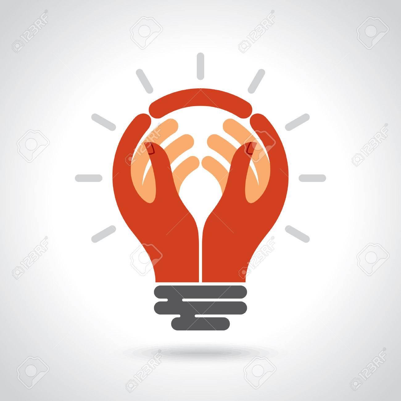 Reach idea with human hand Standard-Bild - 37076391