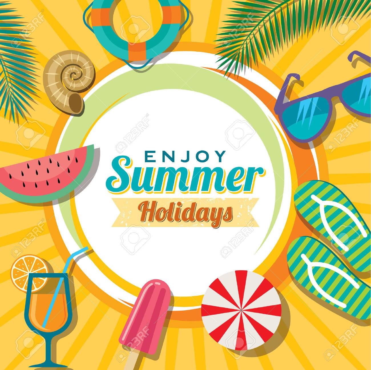 Summer holidays illustration  summer background Standard-Bild - 39942457