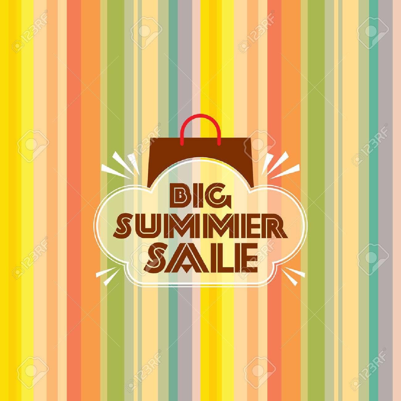 summer sale design template Standard-Bild - 39942669