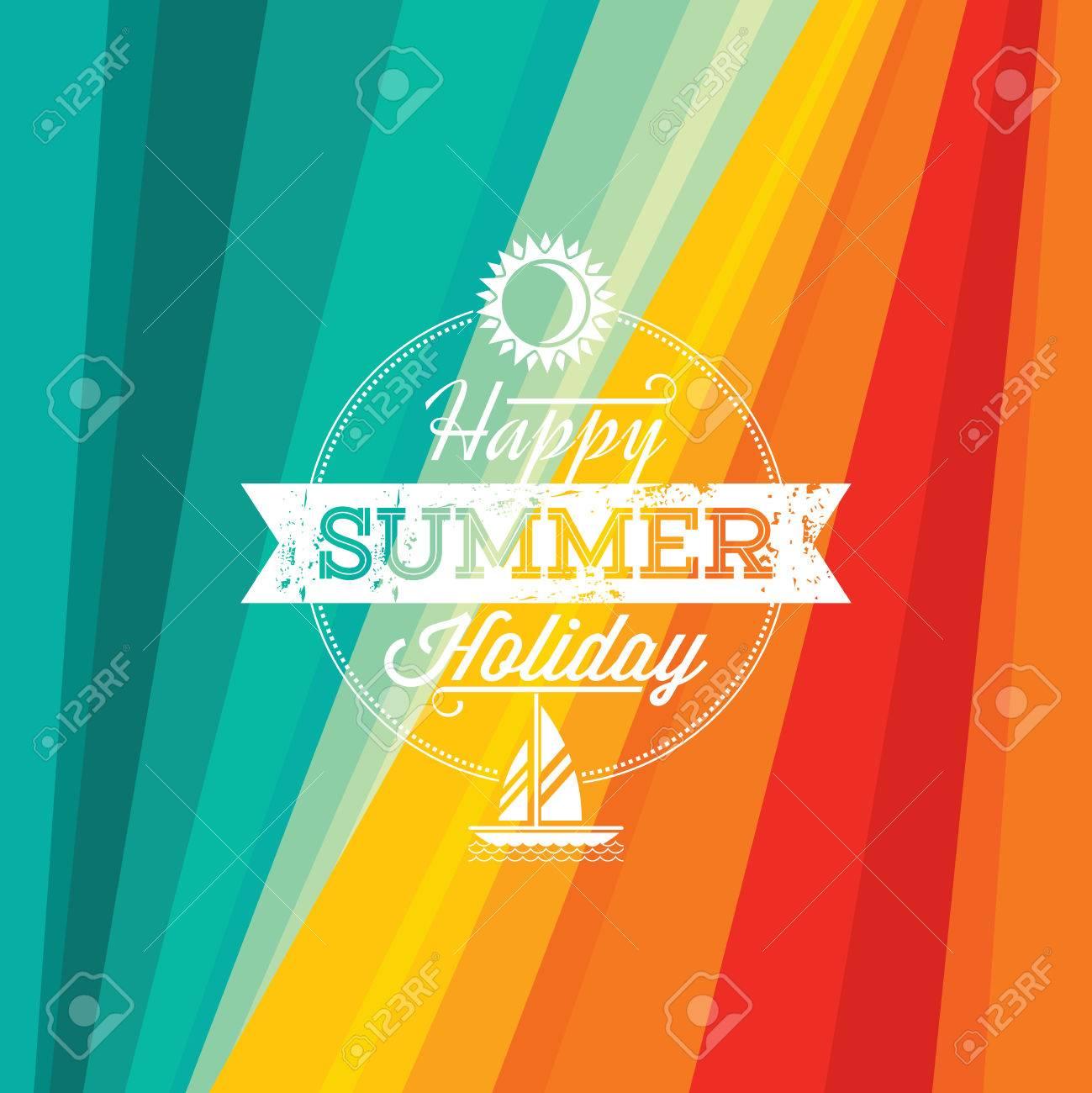 Summer holidays illustration  summer background Standard-Bild - 39943092