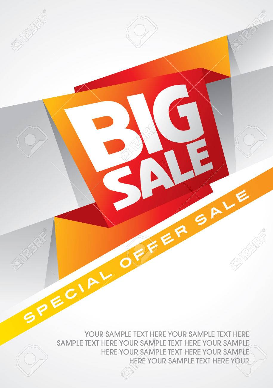sale shopping background and label for business promotion Standard-Bild - 39943103