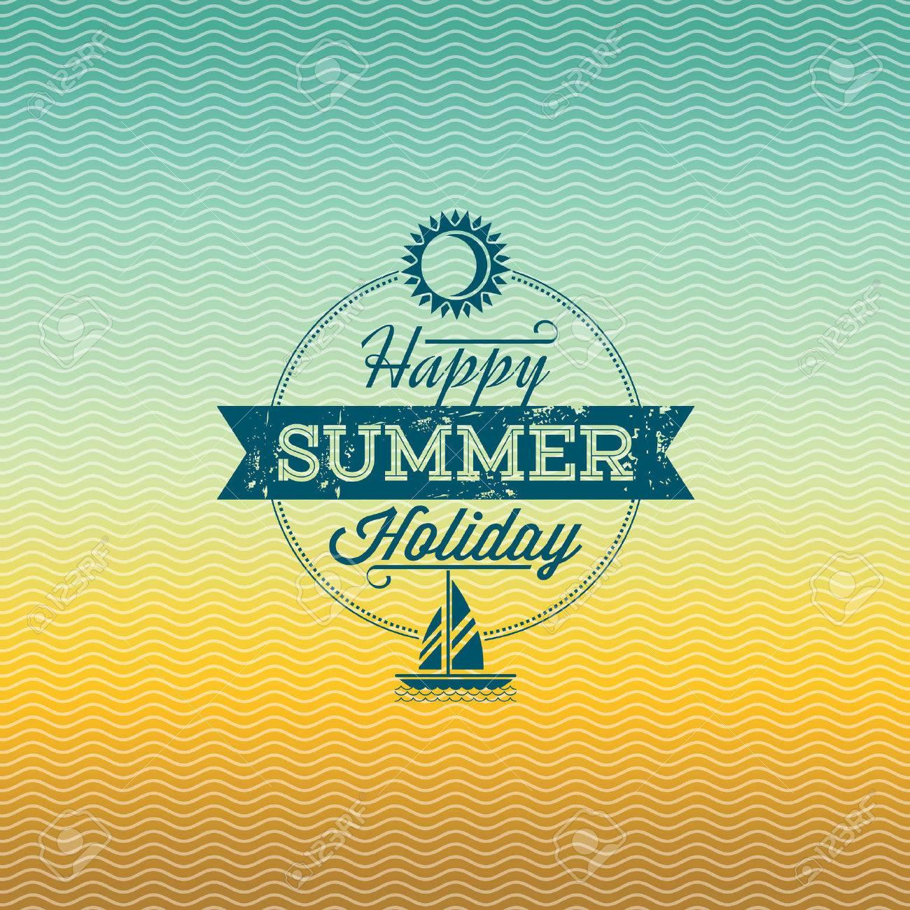 Summer holidays illustration  summer background Standard-Bild - 39943161
