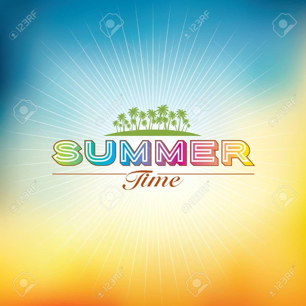 Summer holidays illustration  summer background Standard-Bild - 39943259