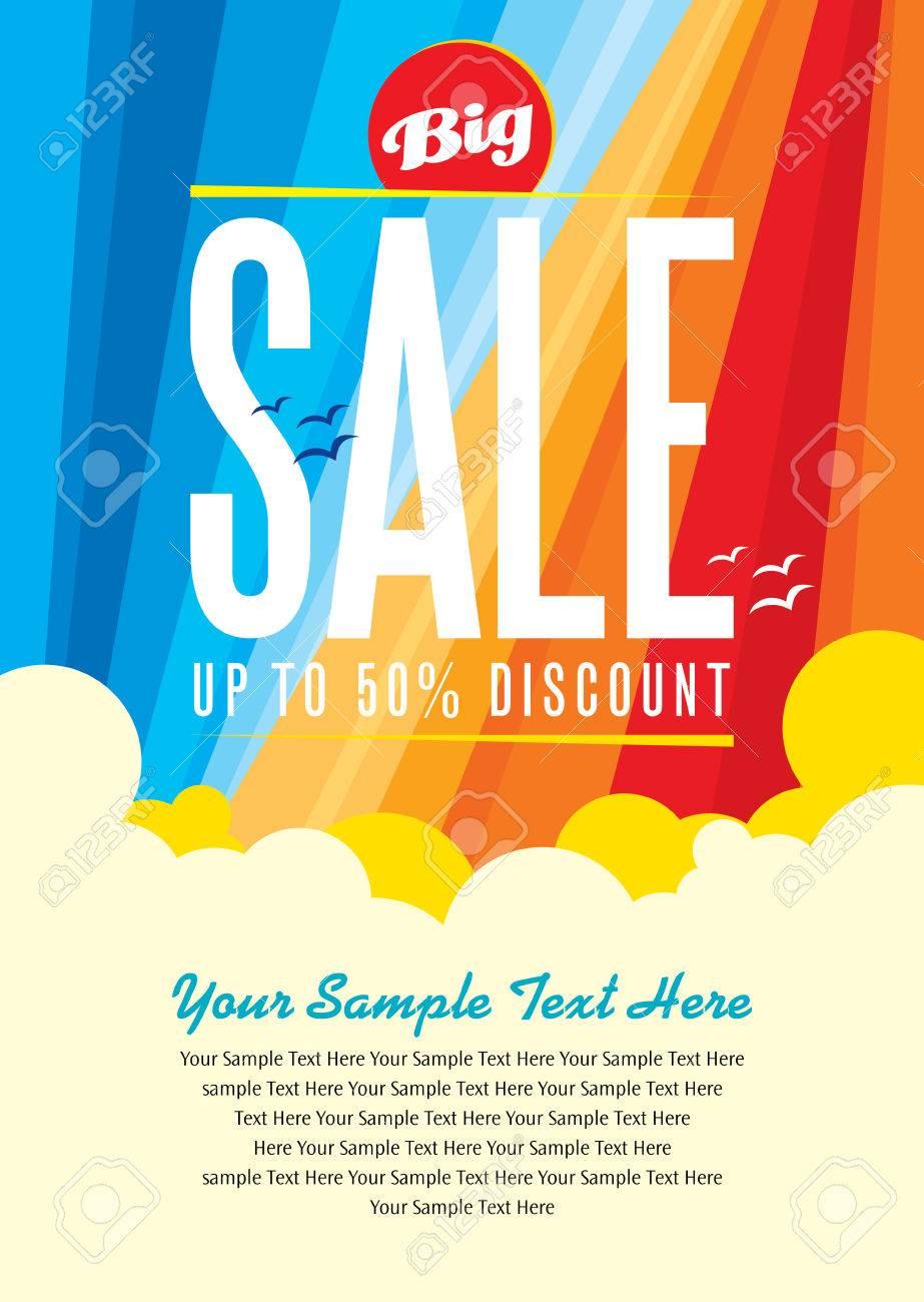 summer sale design template Standard-Bild - 39943436