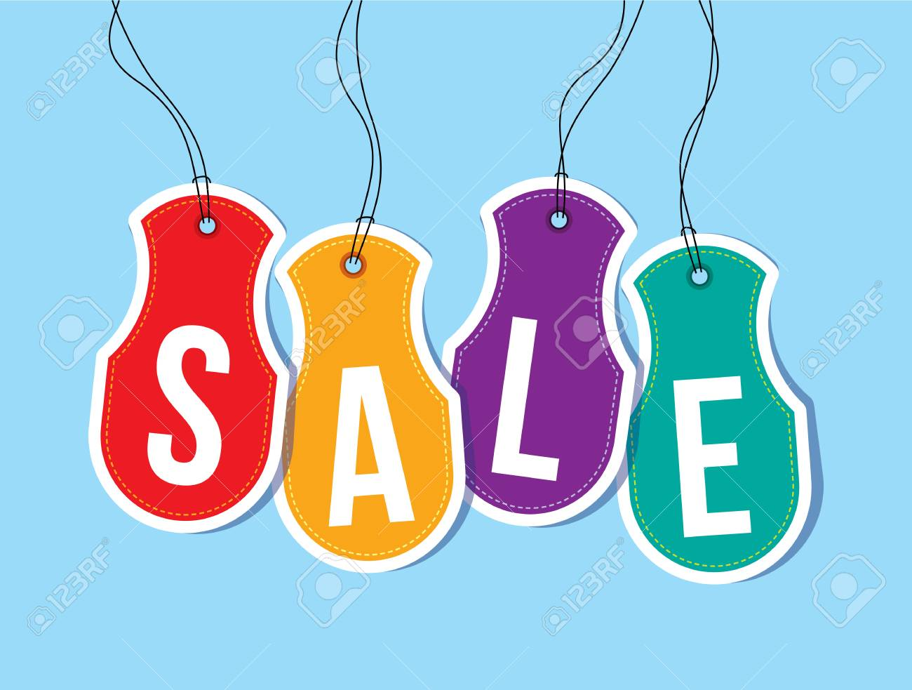 sale shopping background and label for business promotion - 39943777