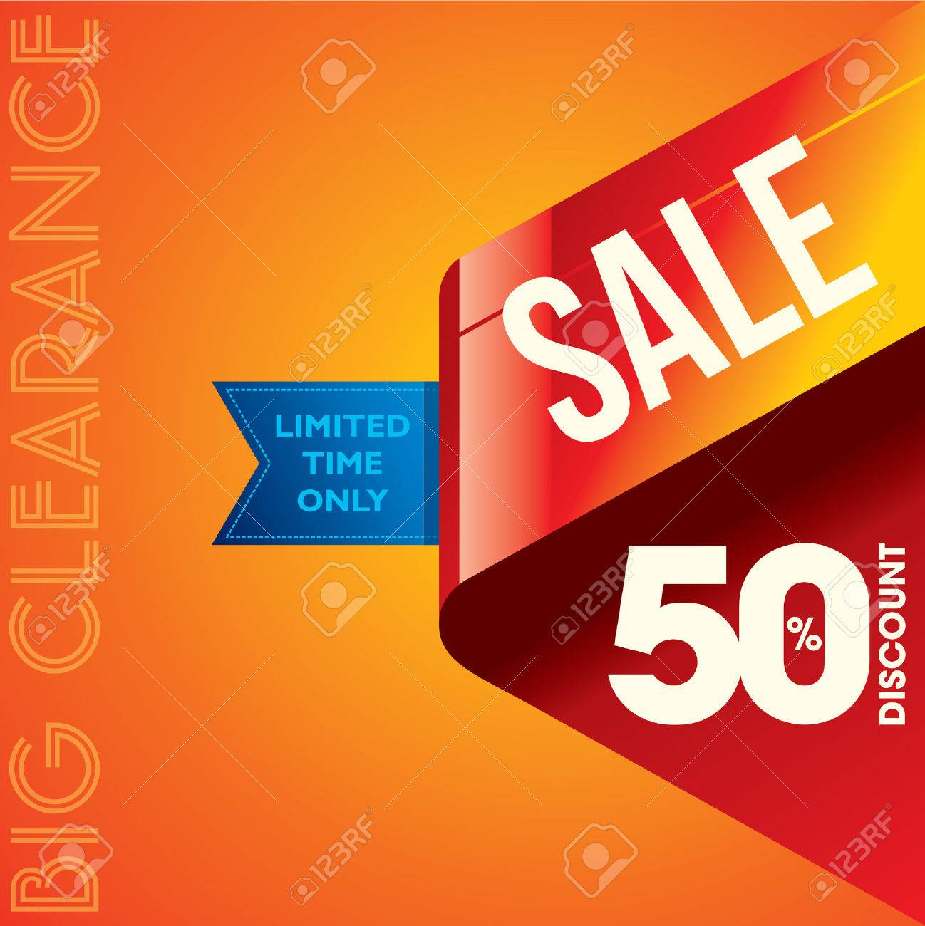 sale shopping background and label for business promotion - 39548217