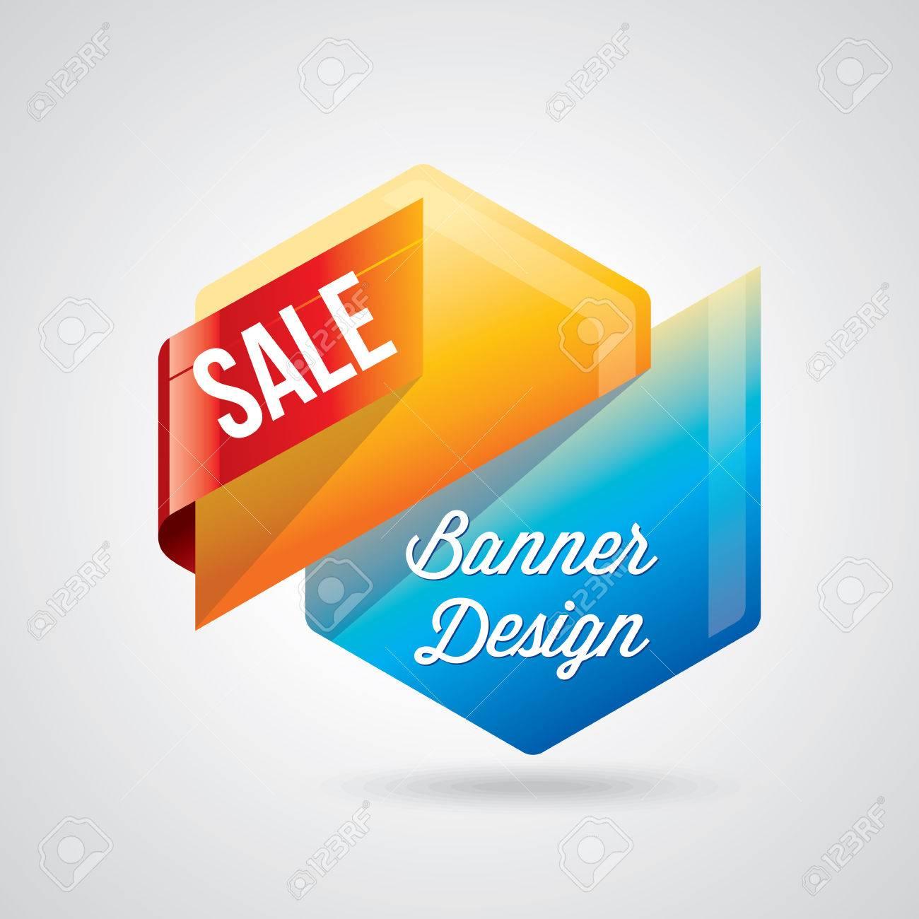 Colorful promotional banner design vector illustration - 41602758