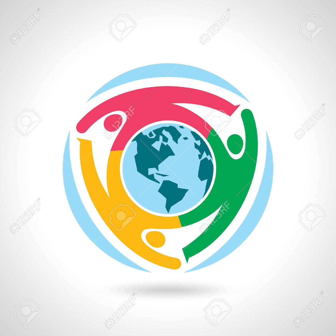 Earth Globe with people teamwork concept - 41621673