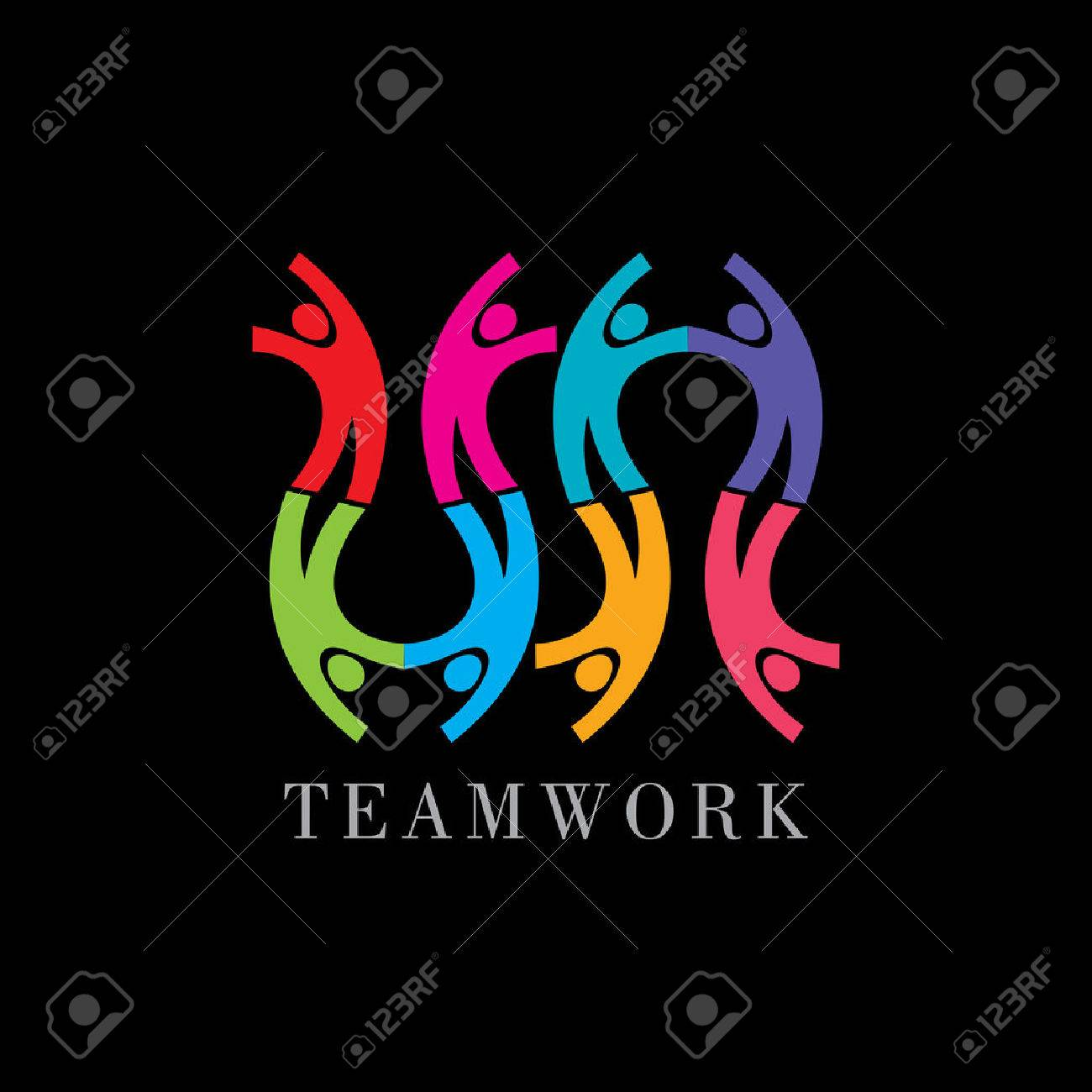 Concept of communityworkersunitysocial networking icon image template. Teamwork vector Standard-Bild - 41621883