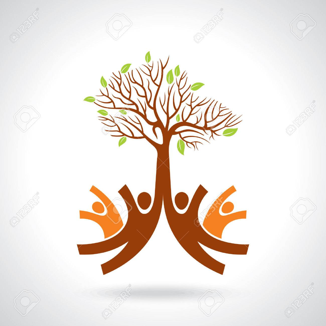 creative group of hands with save tree Standard-Bild - 41621907