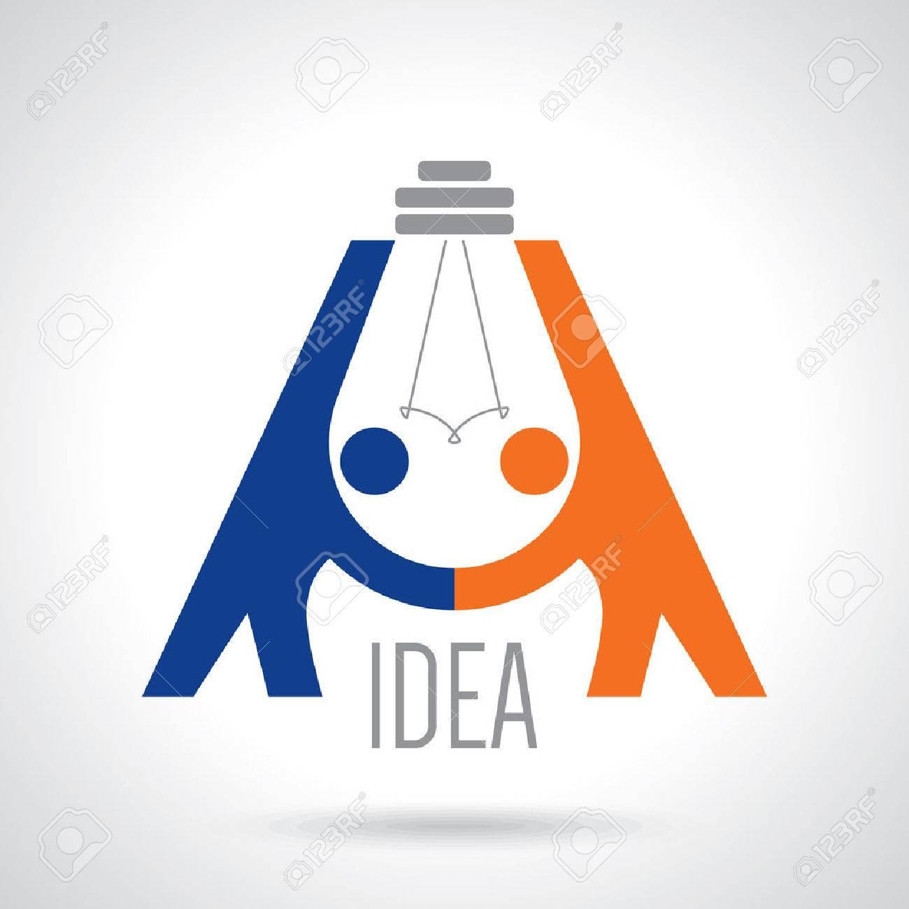 creative concept black white icon handshake. background for business and finance. idea, team,best deal, teame work. Flat vector design Standard-Bild - 42932102