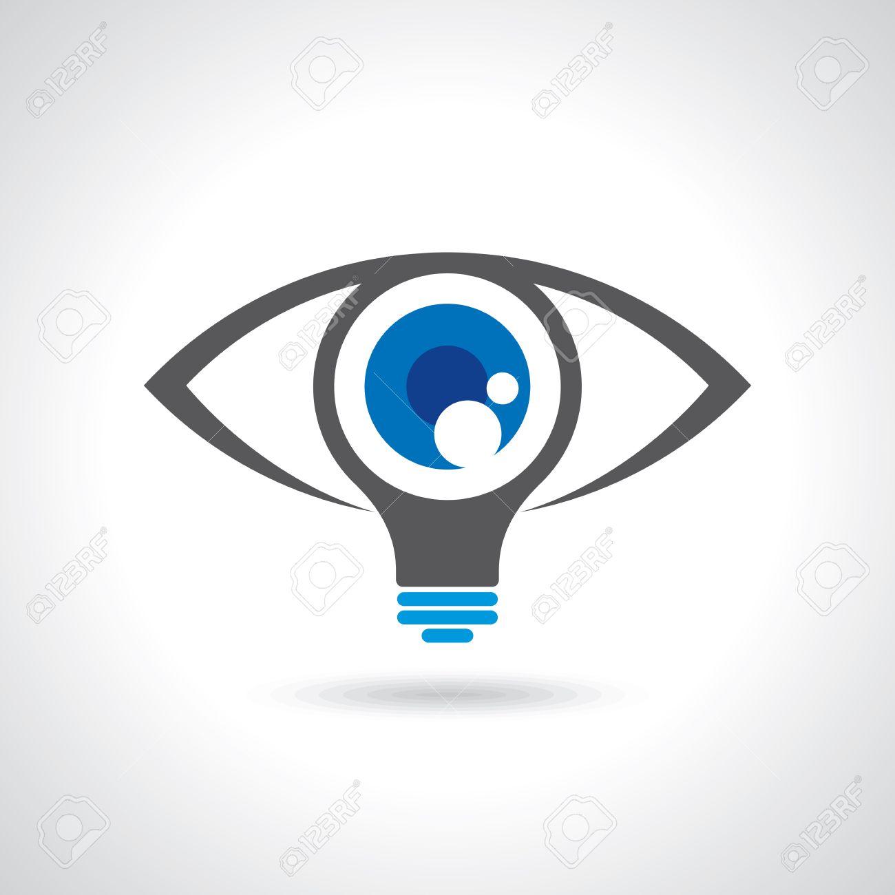 vision and ideas sign,eye icon,light bulb symbol ,business concept.vector illustration Standard-Bild - 42932242