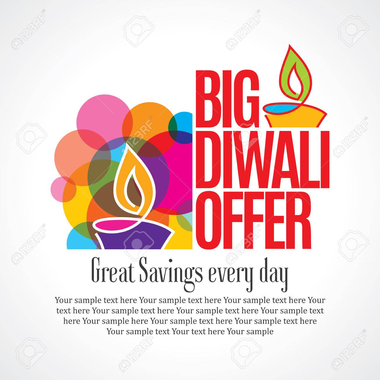 sale shopping background and label for Diwali festival - 46724027