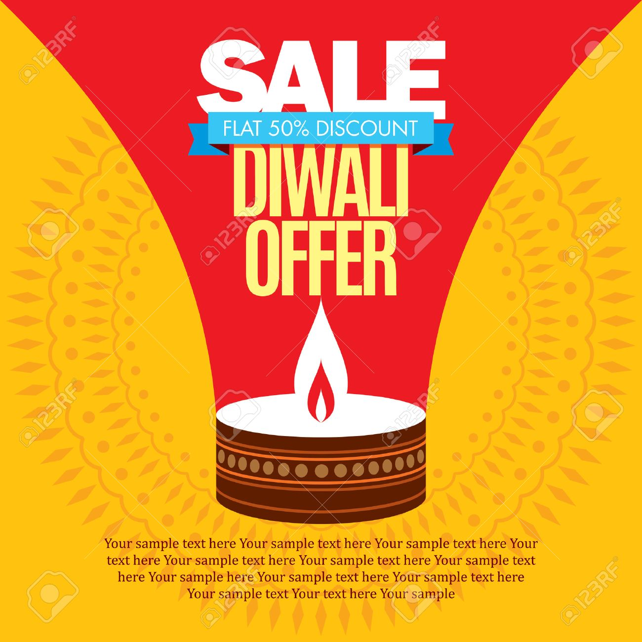 sale shopping background and label for Diwali festival - 46724035
