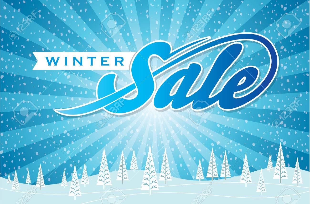 Winter sale design in blue color for business promotion - 49792218