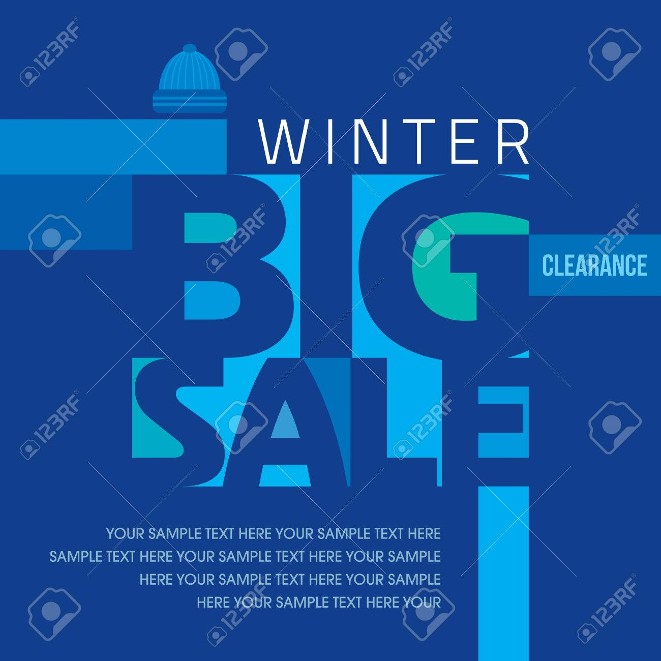 写真素材 , 冬販売ポスター デザイン テンプレートや背景。創造的なビジネス プロモーション ベクトル。
