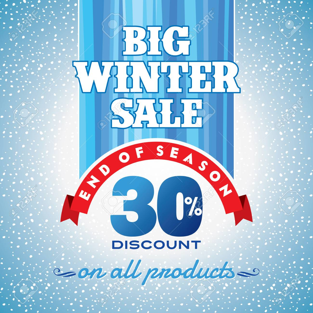 winter sale poster design template or background creative business