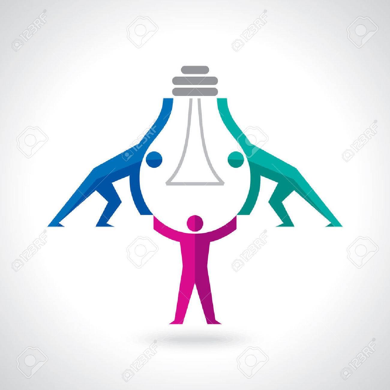 Teamwork idea concept - 61581058
