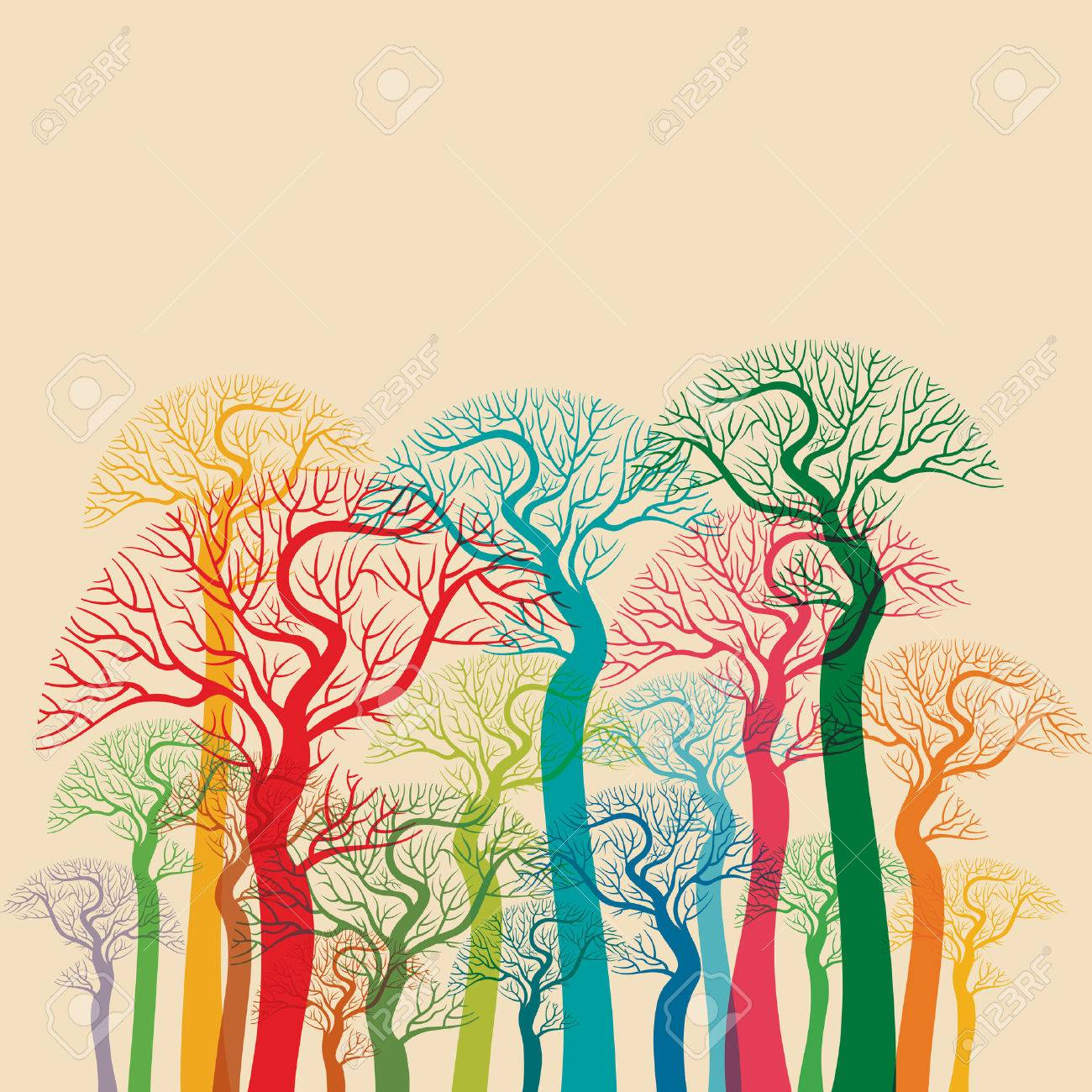 autumn abstract tree forest - 61522807